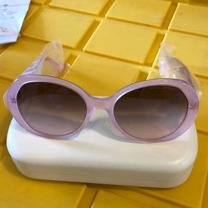 New in case Marc Jacobs pink sunglasses model 35J